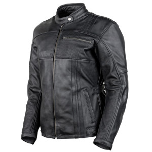 Cortech Women's Runaway Motorcycle Leather Jacket - Side View