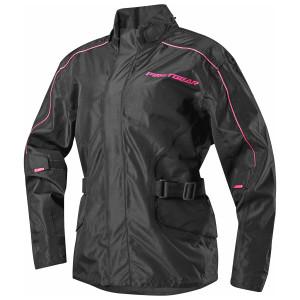 Firstgear Women's Triton Motorcycle Rain Jacket - Black/Pink