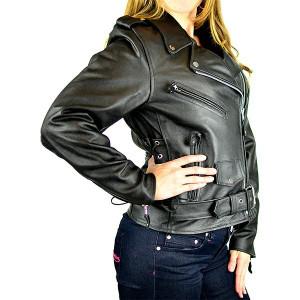 Women's Classic Biker Leather Jacket