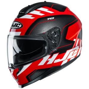 HJC C70 Koro Helmet-Black/Red