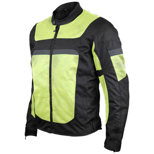 Vance VL1625HG Men's Advanced High Visibility All Season CE Armor Mesh Textile Motorbike Motorcycle Riding Jacket
