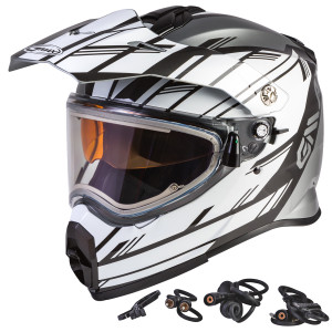 gmax-at-21s-adventure-epic-snow-helmet-with-electric-shield - Silver