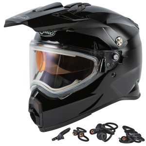 GMax AT-21S Adventure Snow Helmet With Electric Shield - Black