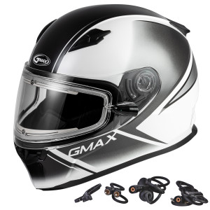 GMax FF49S Hail Snow Helmet With Electric Shield - White/Black