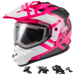 GMax Women's GM11S Trapper Snow Helmet With Electric Shield