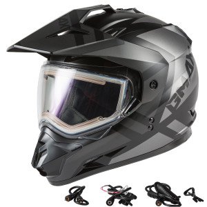 GMax GM11S Trapper Snow Helmet With Electric Shield - Black/Grey