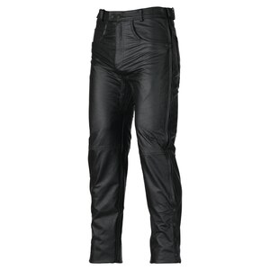 Mens Black Premium Cowhide Biker Motorcycle Leather Overpants