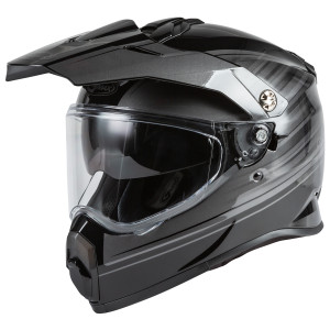 GMax Youth AT21Y Raley Helmet - Black/Grey