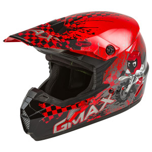 GMax Youth MX-46Y Anim8 Helmet - Red