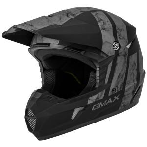 GMax Youth MX-46Y Dominant Helmet - Black/Grey