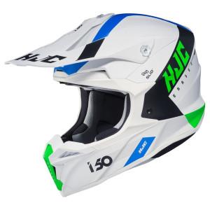 HJC i50 Erased Helmet-White/Green
