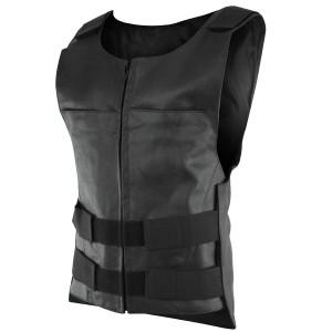 Vance MV10CL Mens Bullet Proof Style Leather Motorcycle Vest