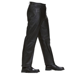 Mens Black Premium Cowhide Jeans Style Biker Motorcycle Leather Pants