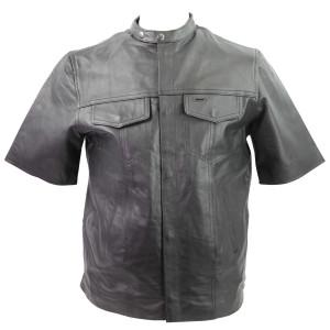 Men's LS506 Premium Cowhide Leather Shirt