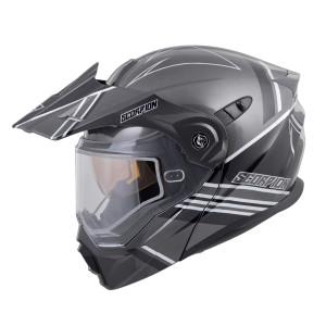 Scorpion EXO-AT950 Teton Helmet With Dual Lens - Black/Silver