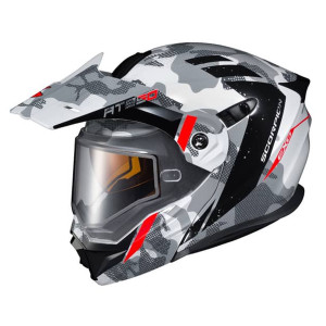 Scorpion EXO-AT950 Outrigger Helmet With Dual Lens - White/Grey