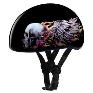 Daytona Skull Cap Skull Wings Half Helmet