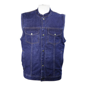 Detour 8208 Men's Blue Denim Jean Biker Motorcycle Vest