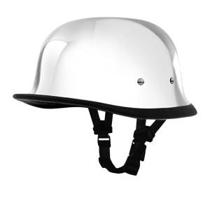 Daytona Novelty German Chrome Half Helmet