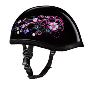 Daytona Women's Novelty Eagle With Flower Half Helmet