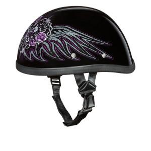 Daytona Women's Novelty Eagle With Barbed Wire Heart Half Helmet