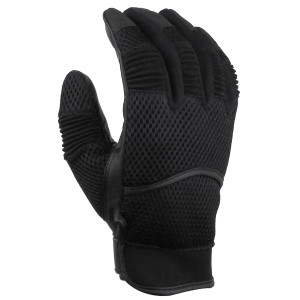 Mens Short Premium Mesh Motorcycle Gloves-Black