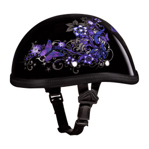 Daytona Women's Novelty Eagle With Butterfly Half Helmet