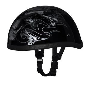 Daytona Novelty Eagle With Cross Bones Half Helmet