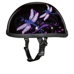 Daytona Women's Novelty Eagle With Dragonfly Half Helmet