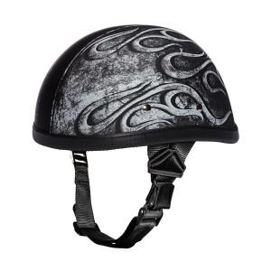 Daytona Novelty Eagle With Flames Grey Half Helmet
