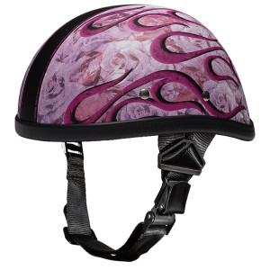 Daytona Women's Novelty Eagle With Flames Pink Helmet