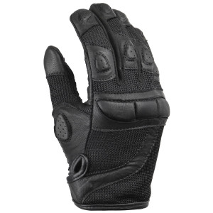 Ladies Premium Mesh and Leather Gloves-Black