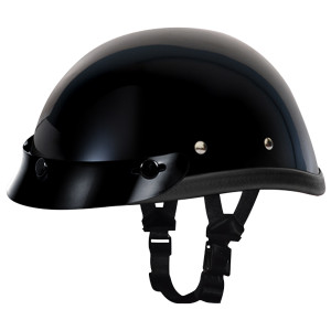 Daytona Novelty Eagle With Snaps Helmet-Black