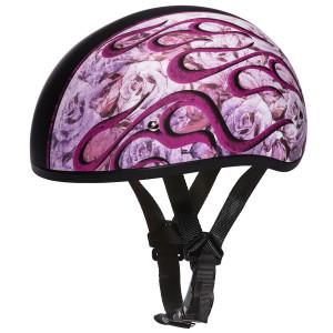 Daytona Women's Skull Cap Flames Half Helmet