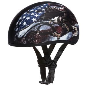 Daytona Skull Cap USA Half Helmet