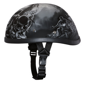 Daytona Novelty Eagle With Guns Half Helmet