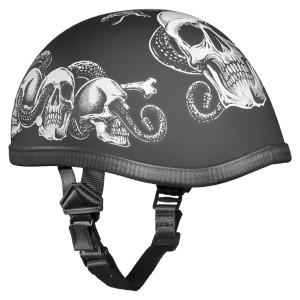 Daytona Novelty Eagle With Snake Skull Half Helmet