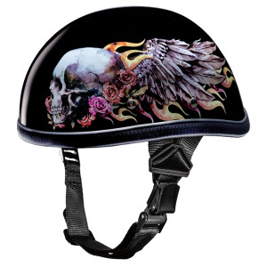 Daytona Novelty Eagle With Skull Wings Helmet