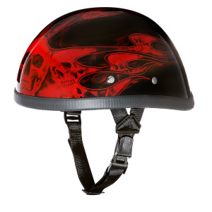 Daytona Novelty Eagle With Skull Flames Red Helmet