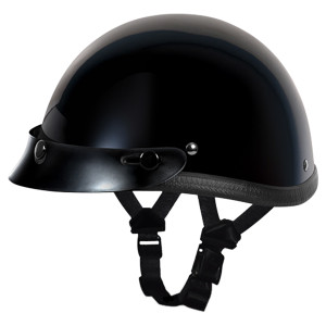 Daytona Novelty Smokey With Snaps Helmet - Black