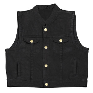 Kids SOA Club Style Denim Vest-Black