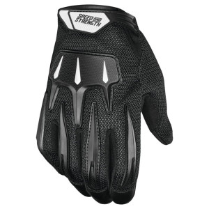 Speed and Strength Hot Head Mesh Motorcycle Gloves - Black