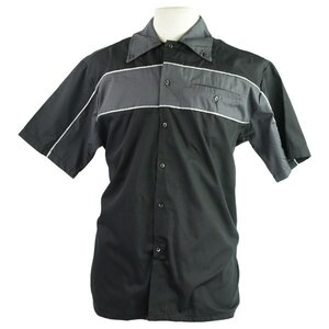 Vance Men's Classic Button Front Pit Shirt - Black/Grey