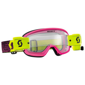 Scott Youth Buzz Pro Works Film System Motorcycle Goggles - Pink