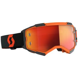 Scott Fury Motorcycle Goggles - Black/Orange