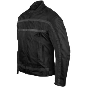 Heavy Duty Vented Textile Cruiser Jacket-Black