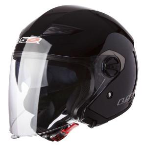 LS2 OF569 Track Helmet - Black