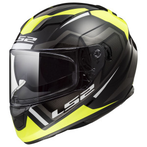 LS2 Stream Axis Helmet - Black/Yellow