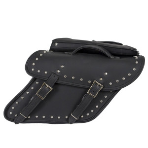 Vance VS214S Studded Motorcycle Saddlebags for Harley Davidson Dyna Motorcycles