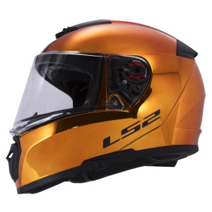 LS2 Stream FF328 Fallout Motorcycle Helmet Green//Chrome